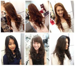 Một số mẫu tóc sử dụng phương pháp uốn nóng