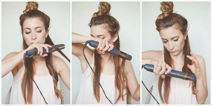 Sử dụng máy ép tóc nóng để duỗi tóc thẳng lại từ từ từng chút một