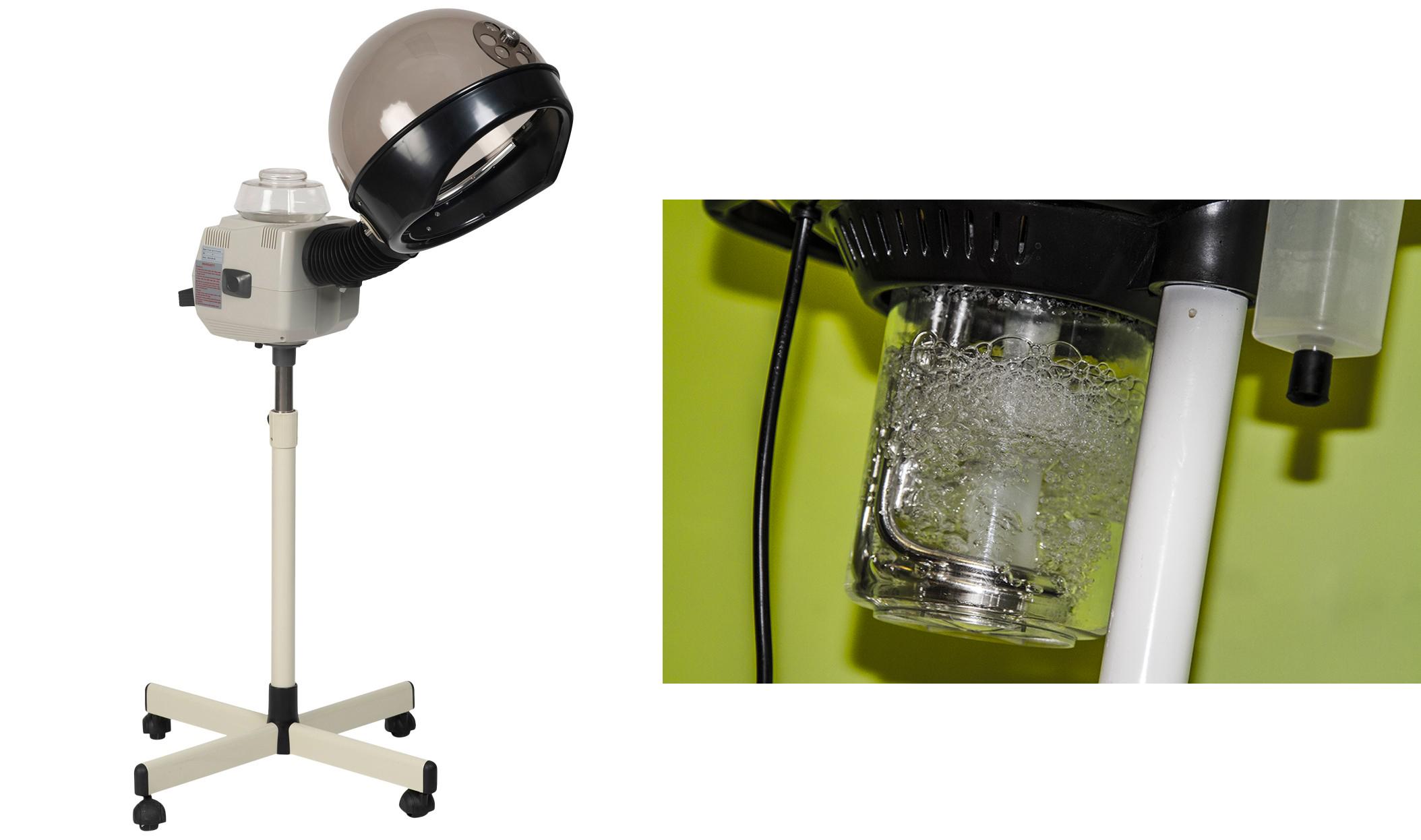 Một chiếc máy chuyên dụng cho việc hấp dầu bằng cách đun sối nước tạo ra hơi nước dùng để hấp dầu tóc