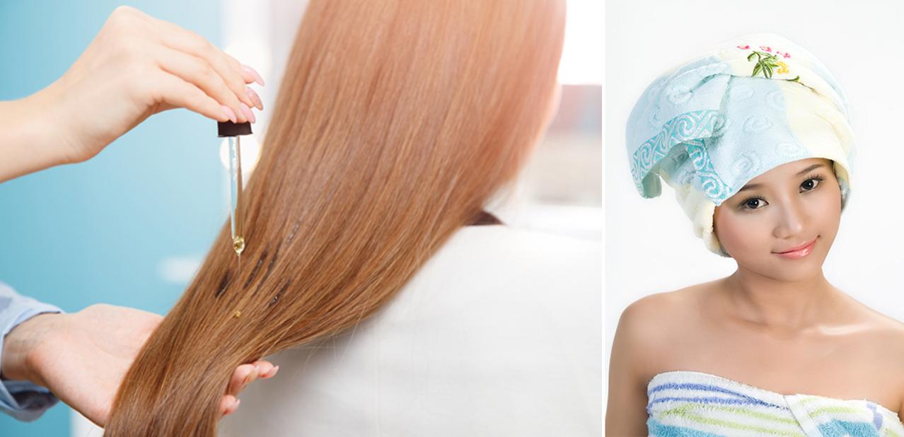 Hấp lạnh là phương pháp sử dụng dầu dưỡng thoa trực tiếp lên tóc rồi ủ tóc lại cho dầu dưỡng thấm từ từ vào tóc.