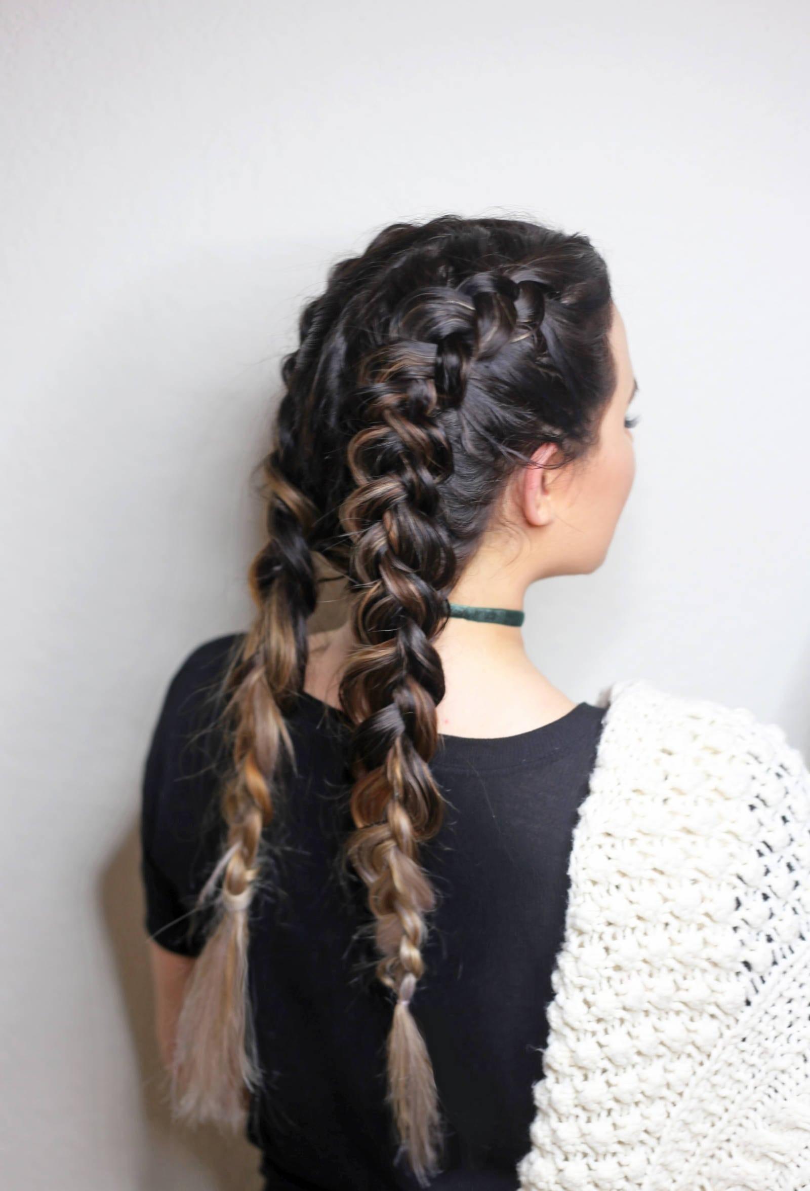 Mẫu tóc sử dụng Kiểu tết tóc Hà Lan! Mẫu 01