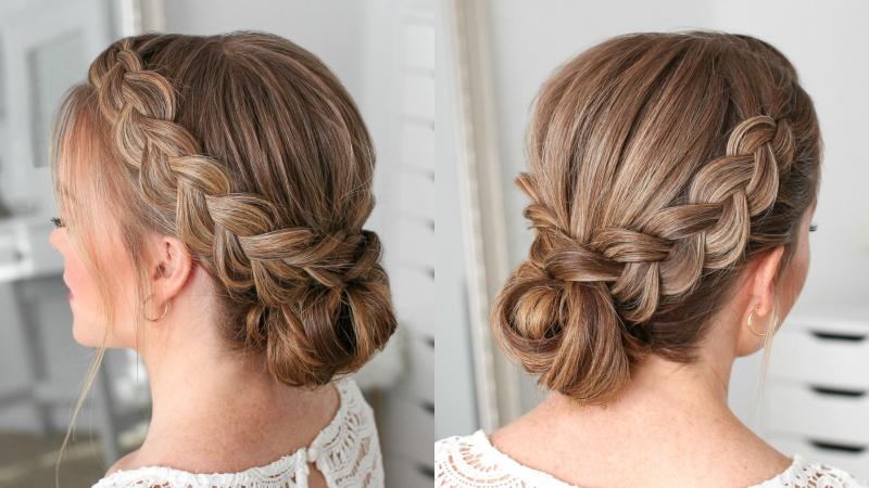 Mẫu tóc sử dụng Kiểu tết tóc Hà Lan! Mẫu 03