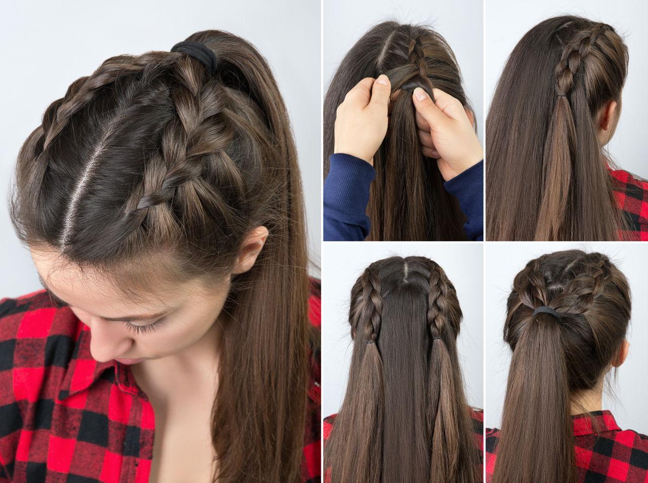 Mẫu tóc sử dụng Kiểu tết tóc Hà Lan! Mẫu 04