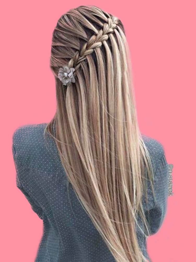 Mẫu tóc sử dụng Kiểu tết tóc Hà Lan! Mẫu 05