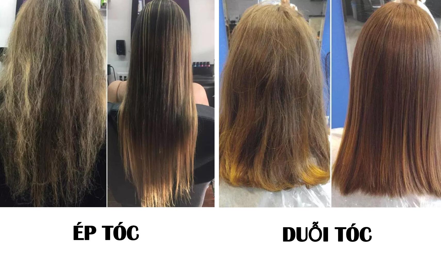 Ép tóc sẽ làm tóc thẳng có phần tự nhiên hơn khi so sánh với duỗi tóc